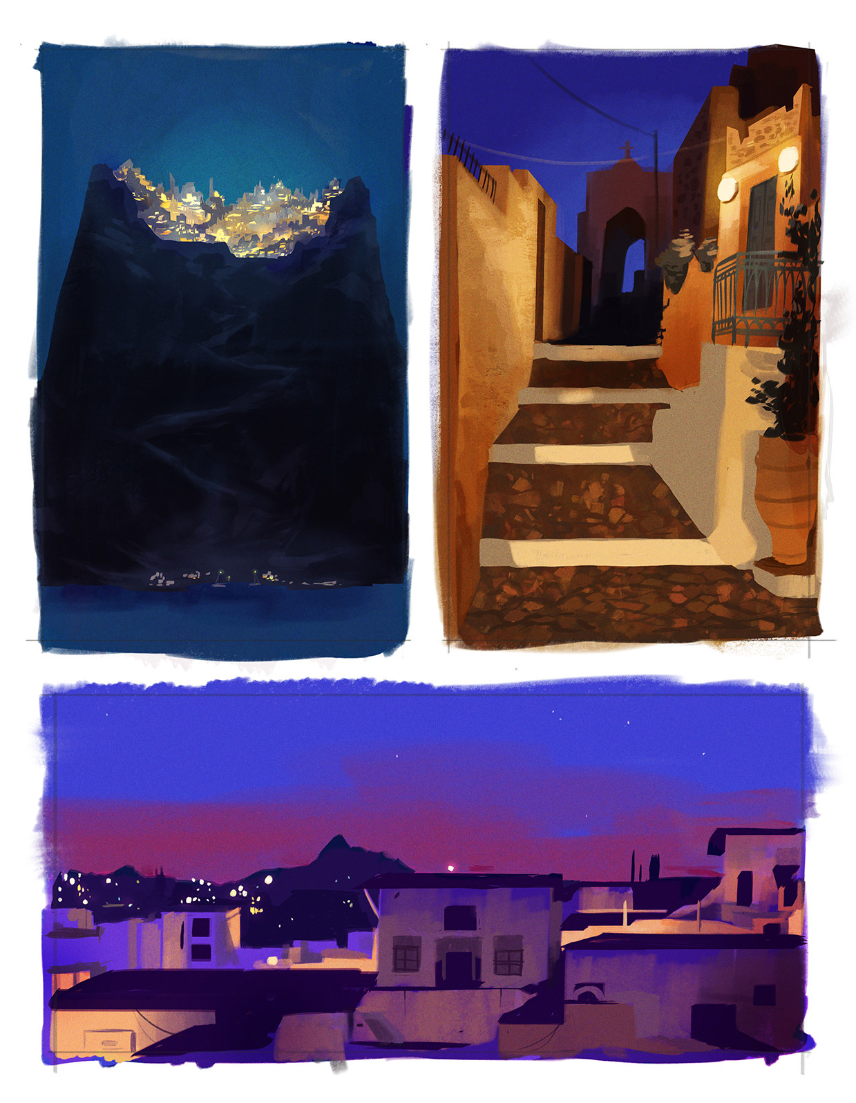 Also based off photos from a holiday in Santorini