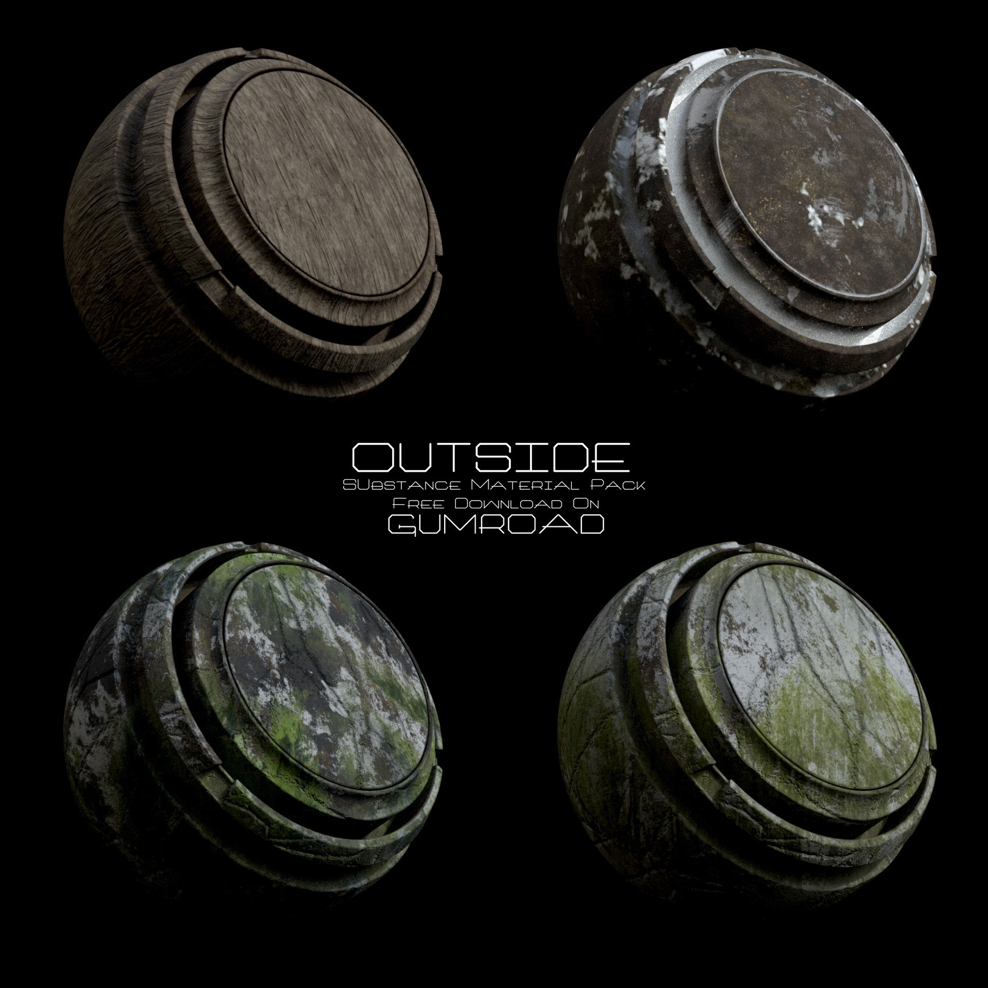 ArtStation - Outside Substance Smart Material Pack by