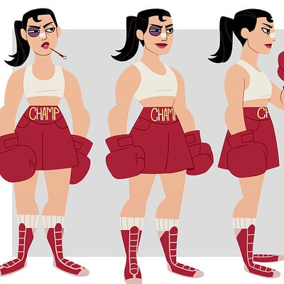 Boxer Character Design