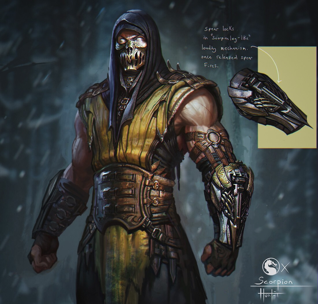 Artstation Scorpion Unused Alt Hunter Schulz
