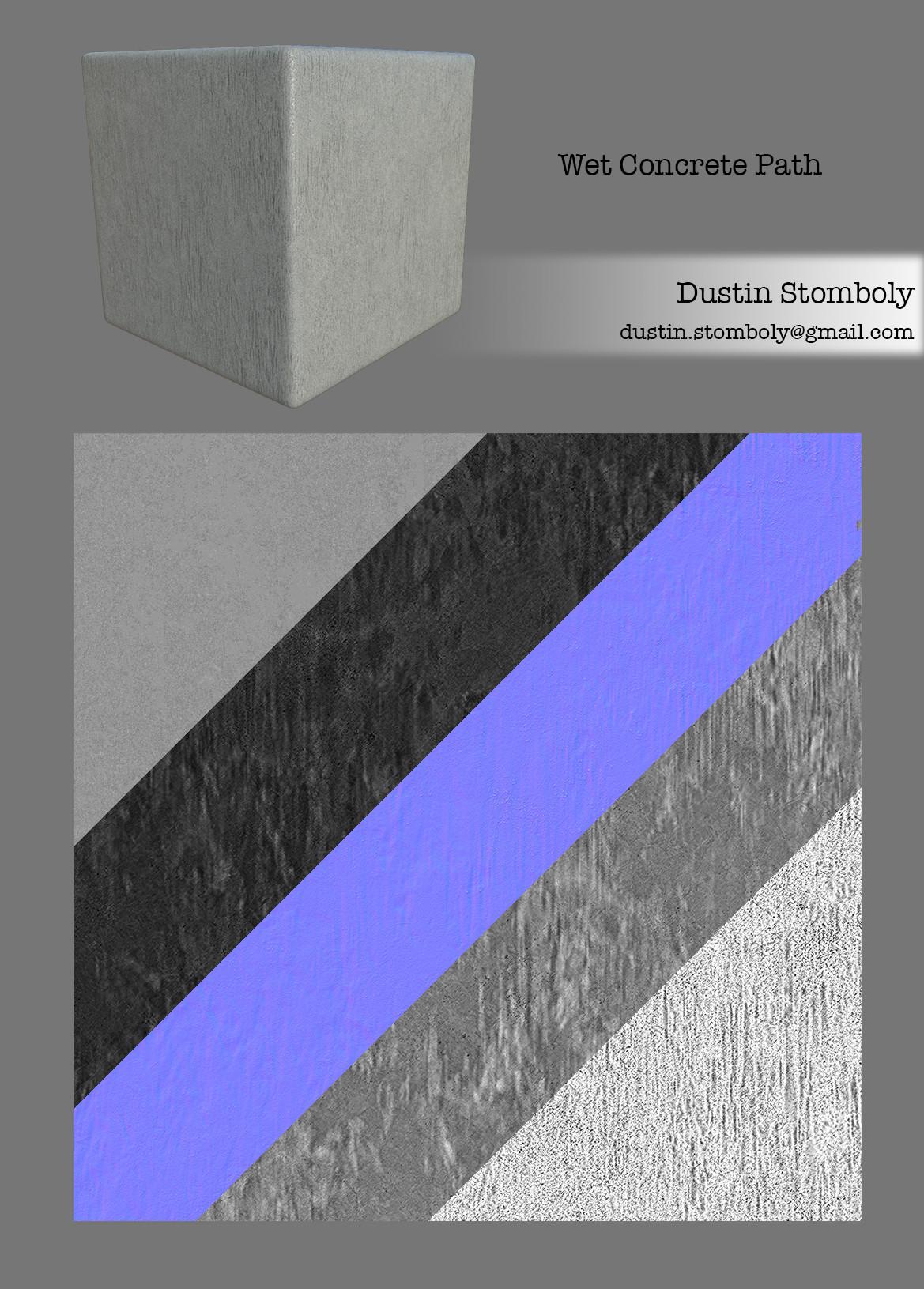 ArtStation - Rainy Courtyard Environment, Dustin Stomboly