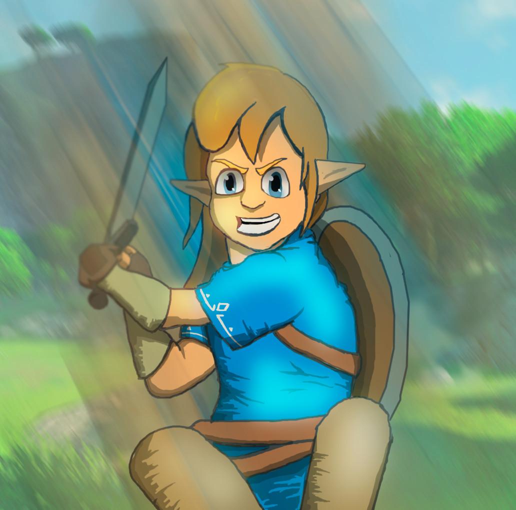 Gabriel Rodrigues Link Zelda Botw Fan Art