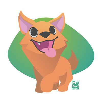Vector Art study - Dog