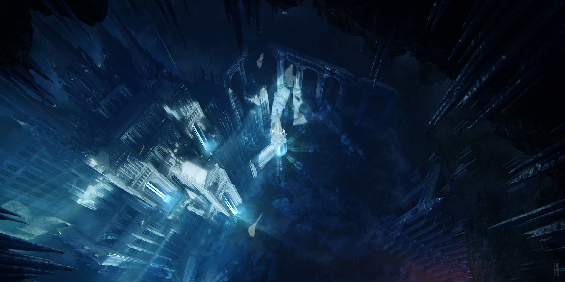 Alex lukianov ice castle top view