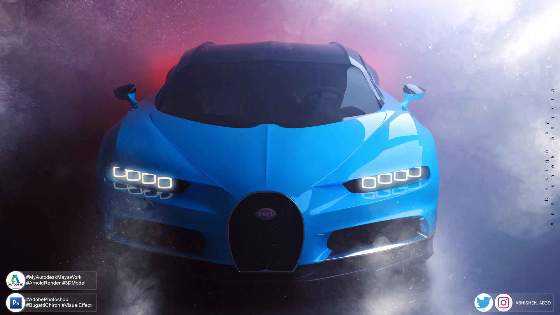 Artstation Bugatti Chiron Visual Art Abhishek Shukla