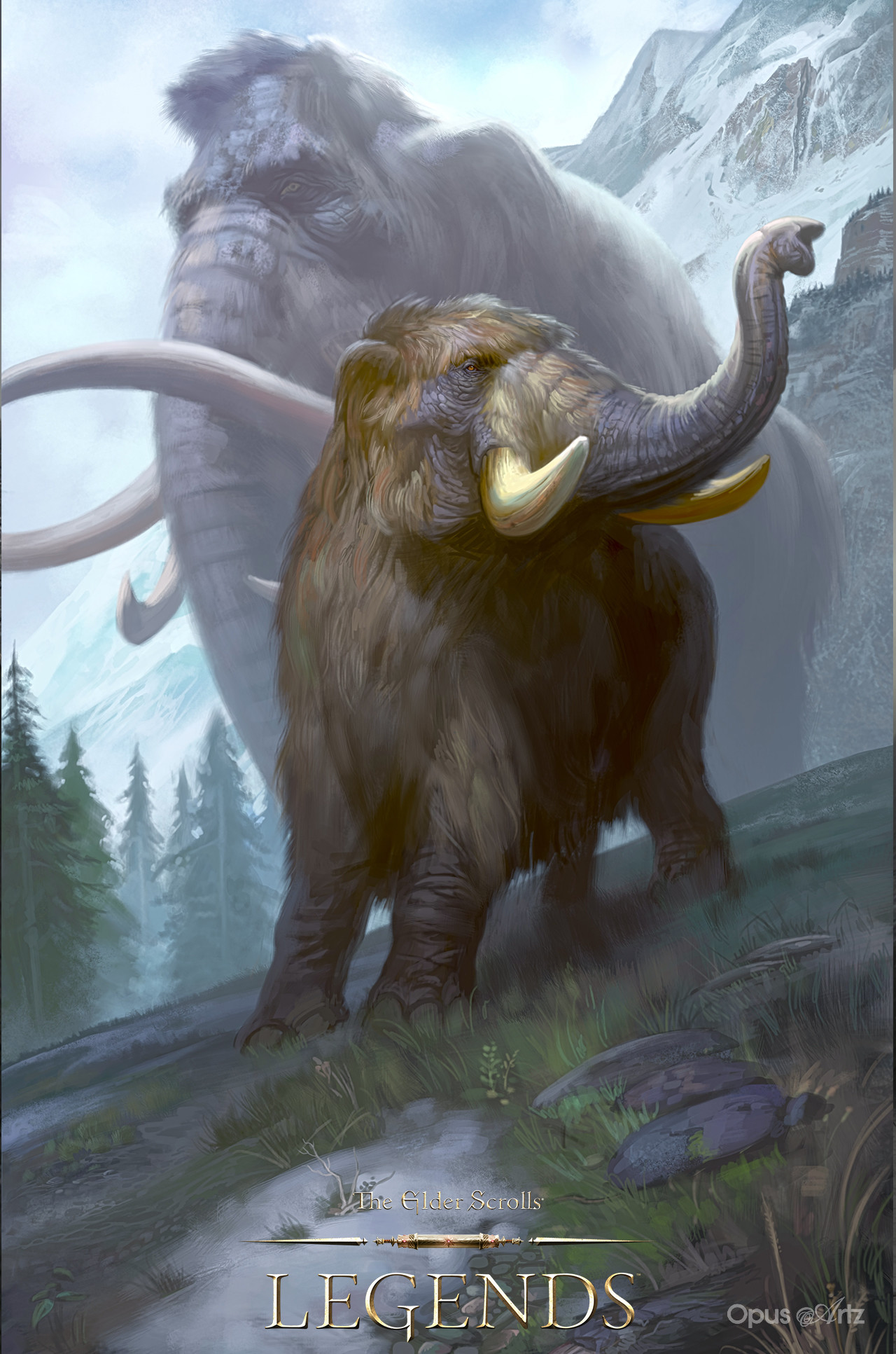 Opus artz tesl young mammoth
