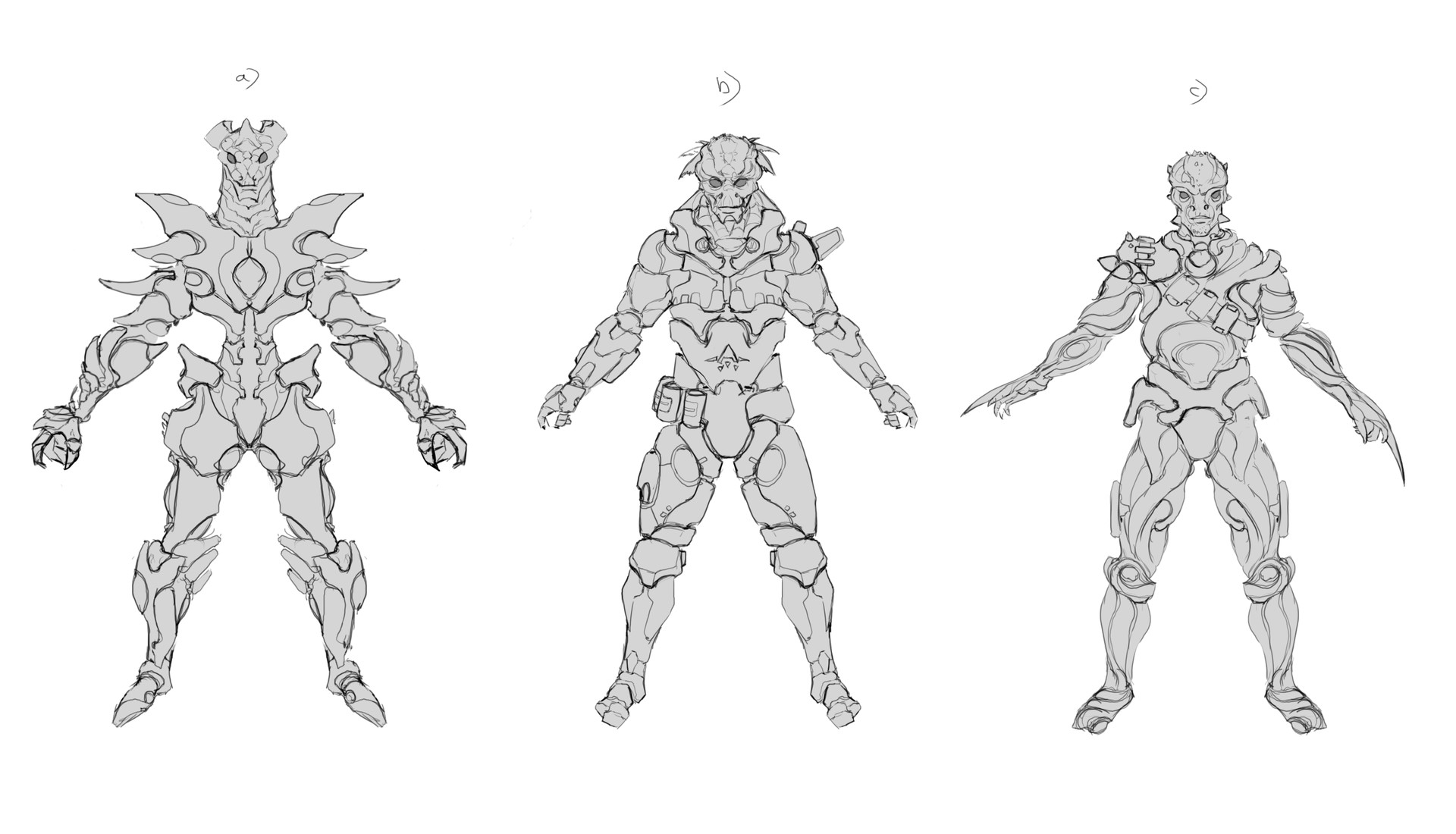 Danny kundzinsh vrinn mongol character concept art early sketches