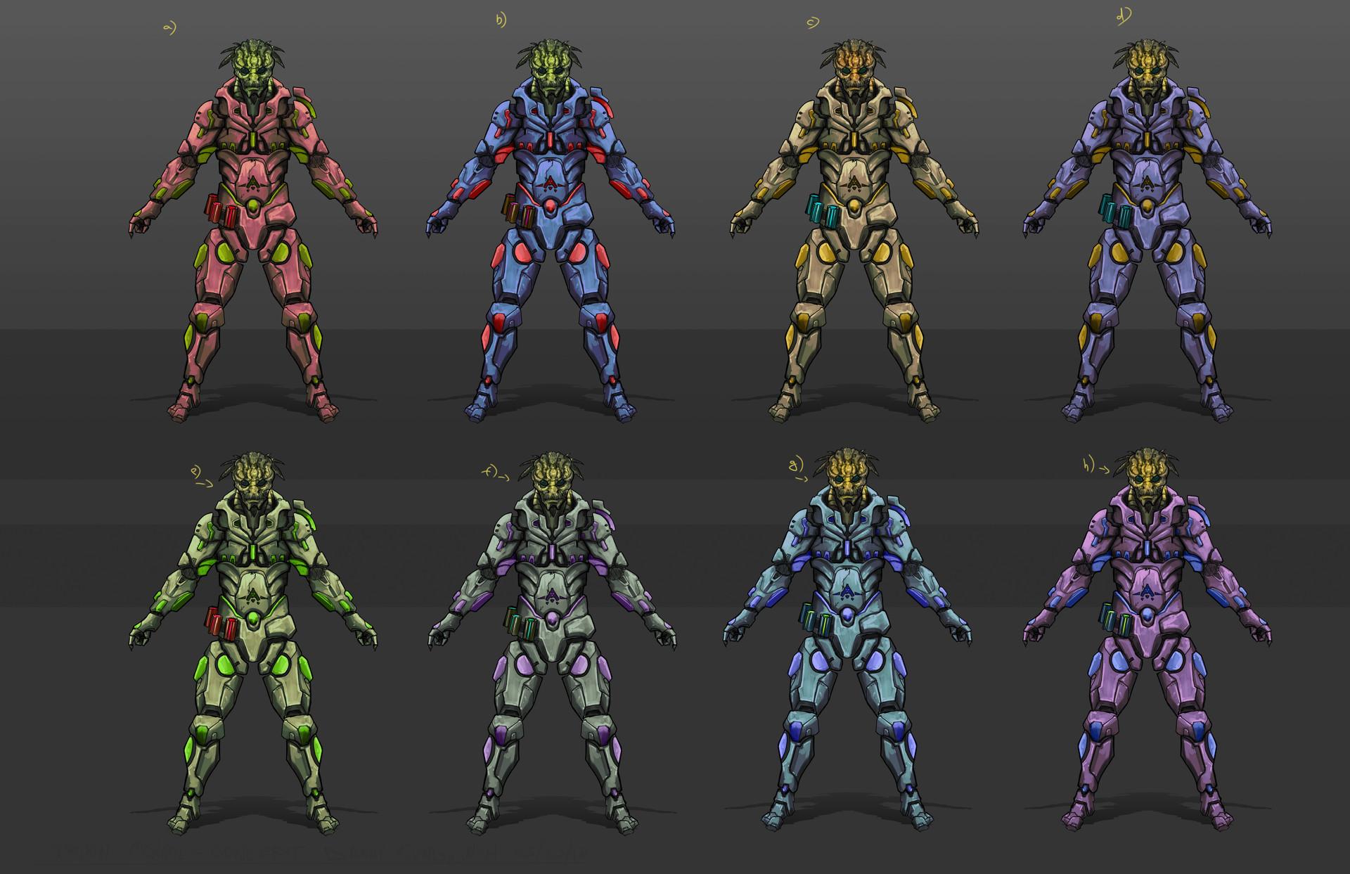 Danny kundzinsh vrinn mongol character concept art3 color variations
