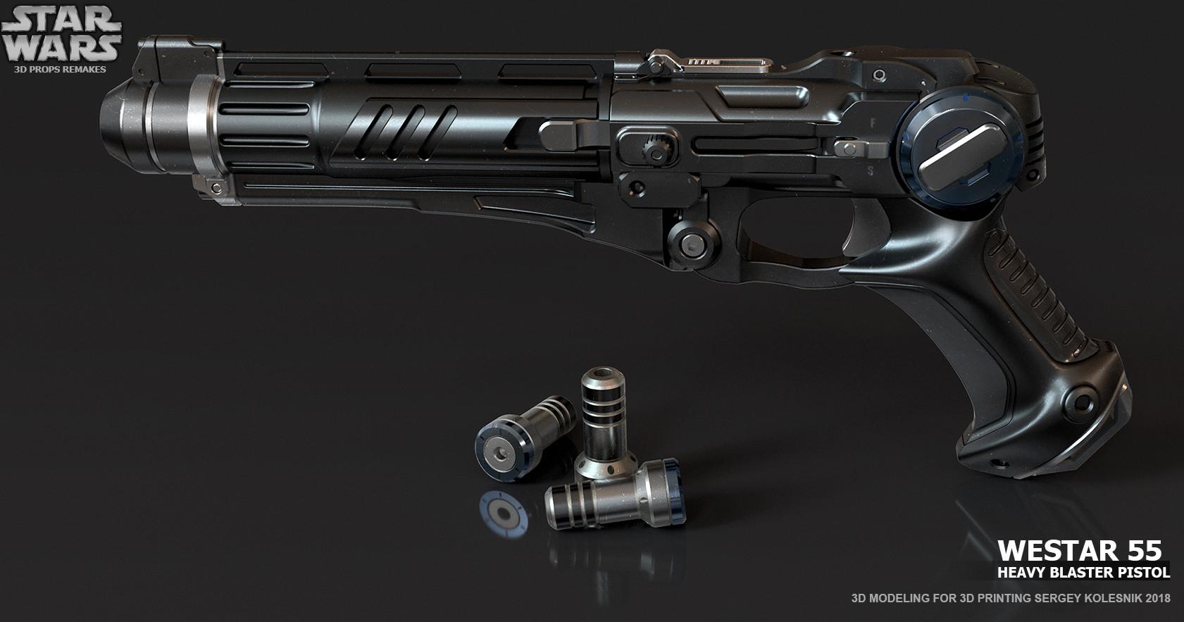 ArtStation - Westar 55 Heavy Blaster Pistol , Sergey Kolesnik