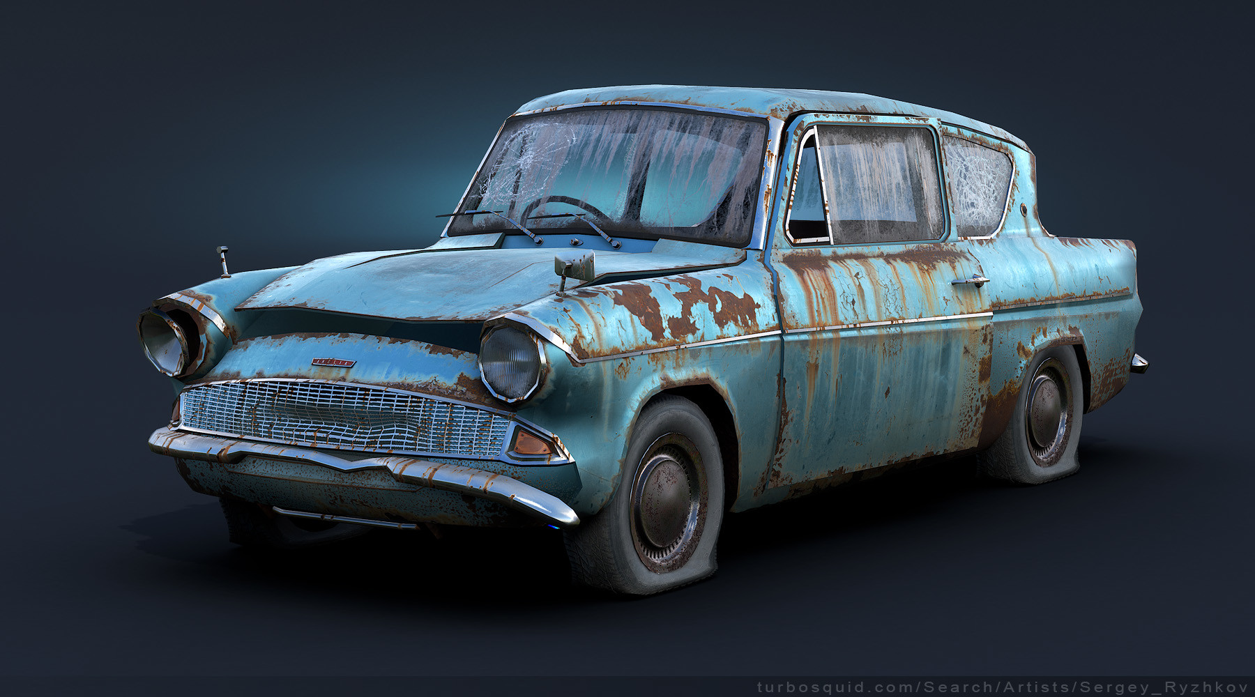 Ford anglia 105e rusty