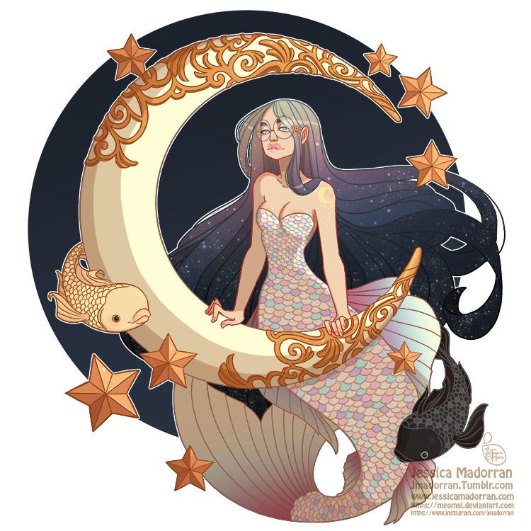 Jessica madorran character design mermay 21 2018 lunar mermaid artstation