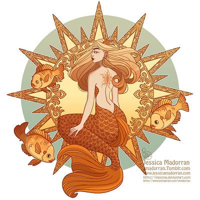Jessica madorran character design mermay 22 2018 sun mermaid artstation