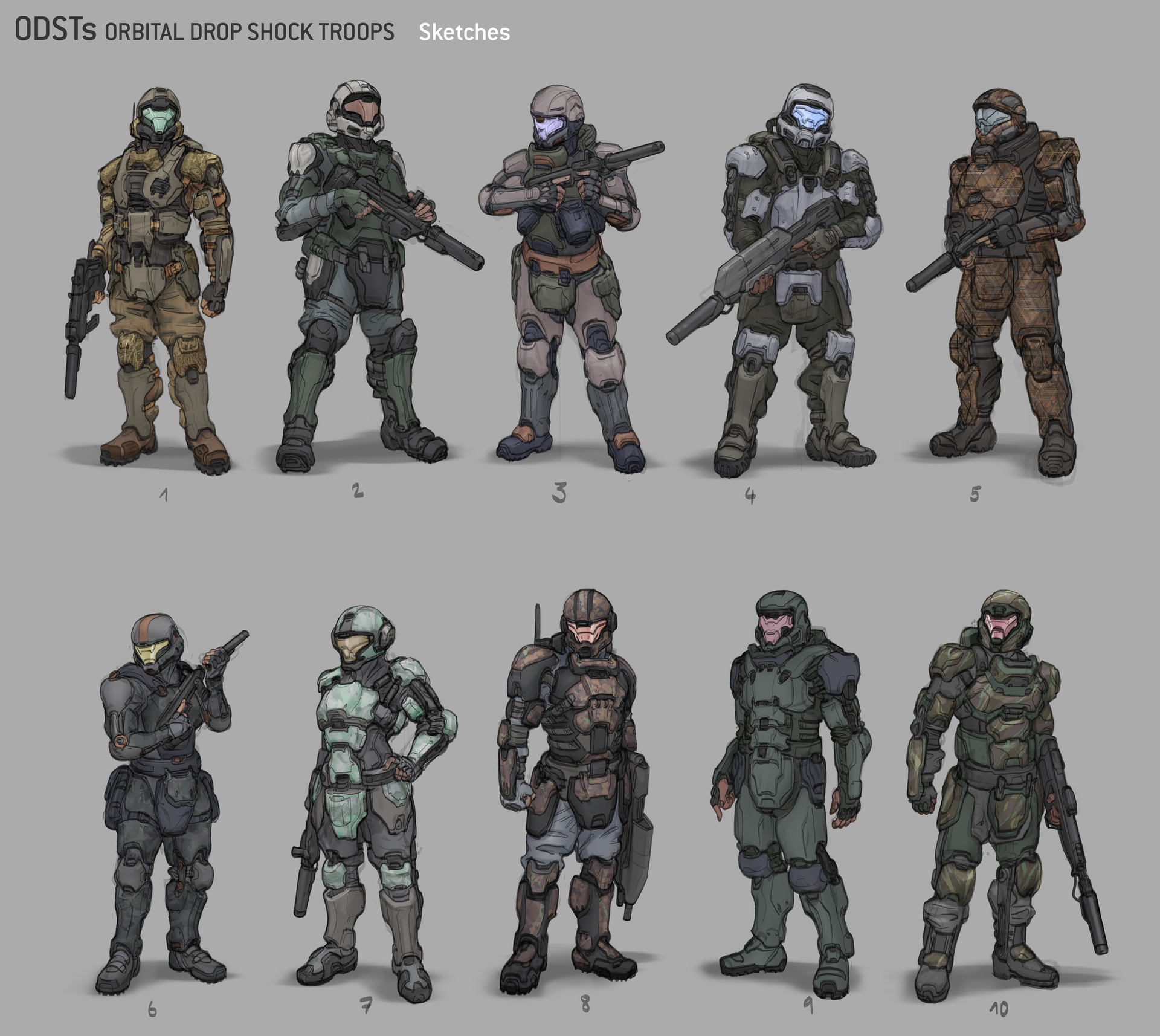 Artstation halo 5 guardians odst alex j cunningham odst sketches referencing robogabos excellent sketches i tried some female ones publicscrutiny Image collections