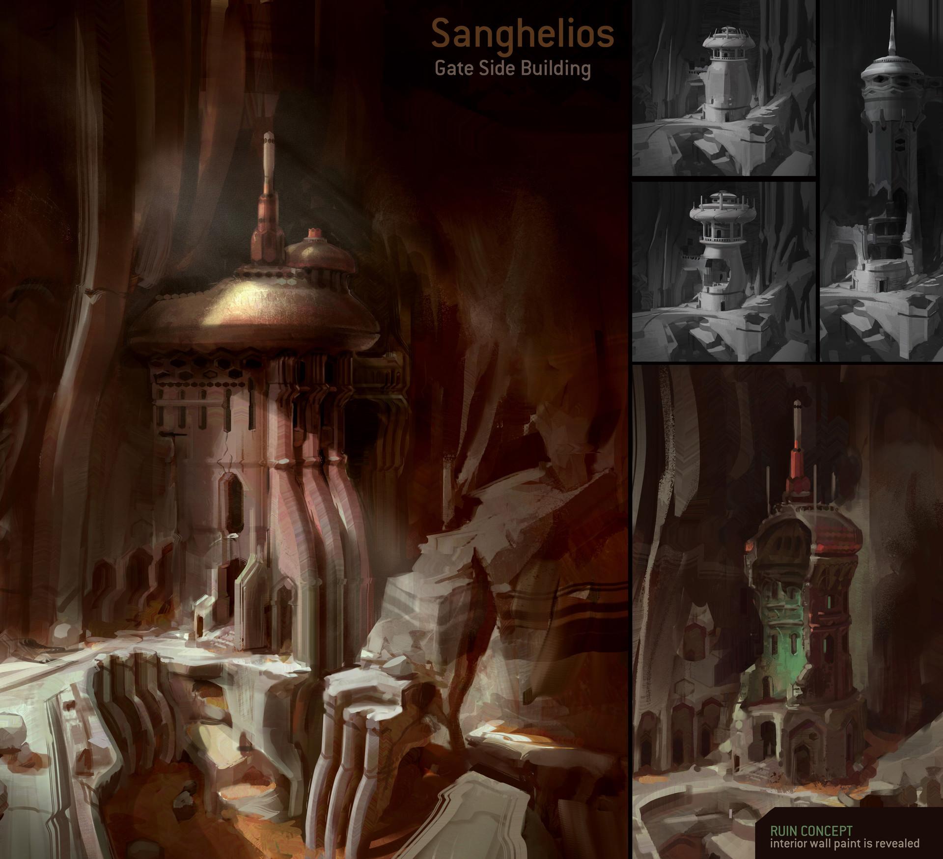 Concept Art Ancient Ruin Interior