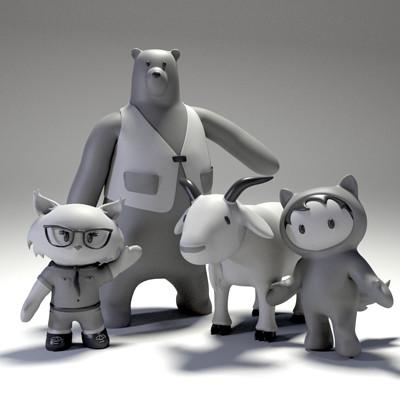 Lauren morrison salesforce mascots grayscale