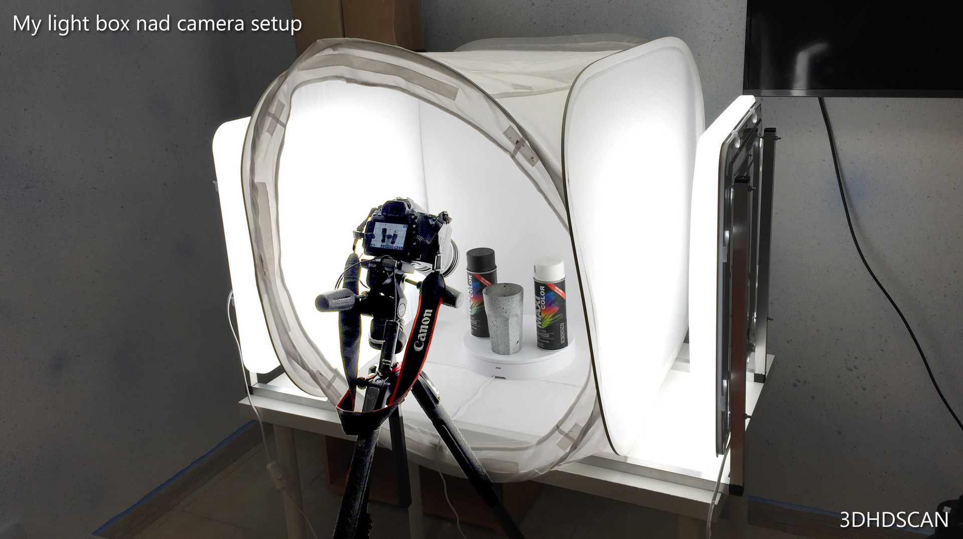 My photogrammety rig + painted glassful