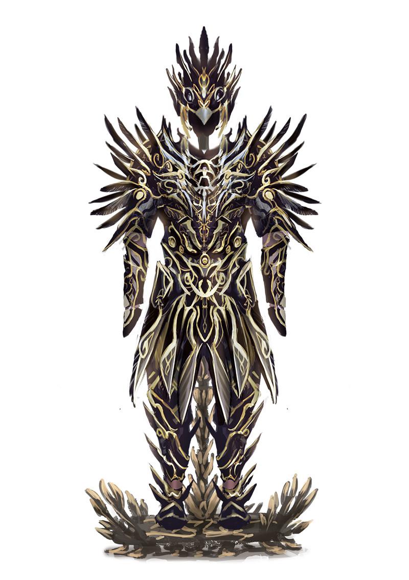 "L'armure du roi corbeau (""The crow king's armor"")"