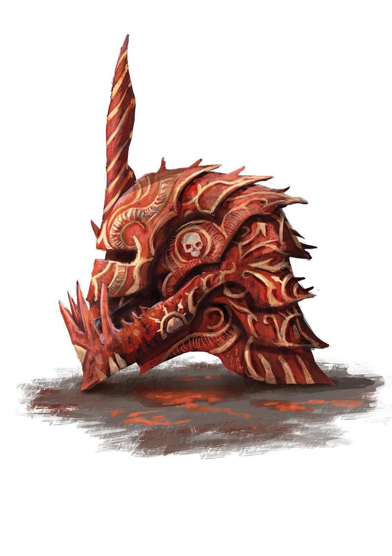 """Le heaume d'Oroax (""""Oroax helmet"""")"""