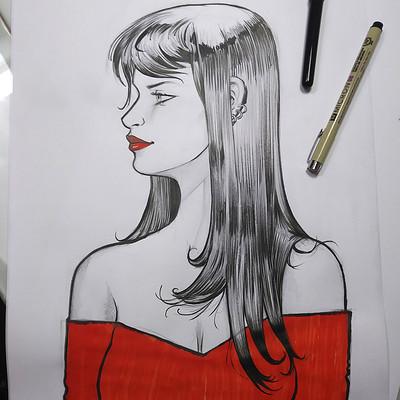 Serge fiedos woman sketch warmup by serge fiedos