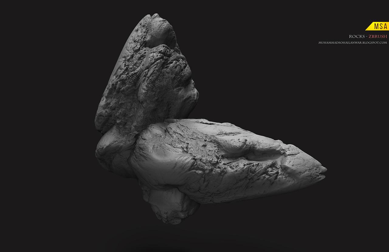Simple Cliff Rock - Zbrush Sculpt