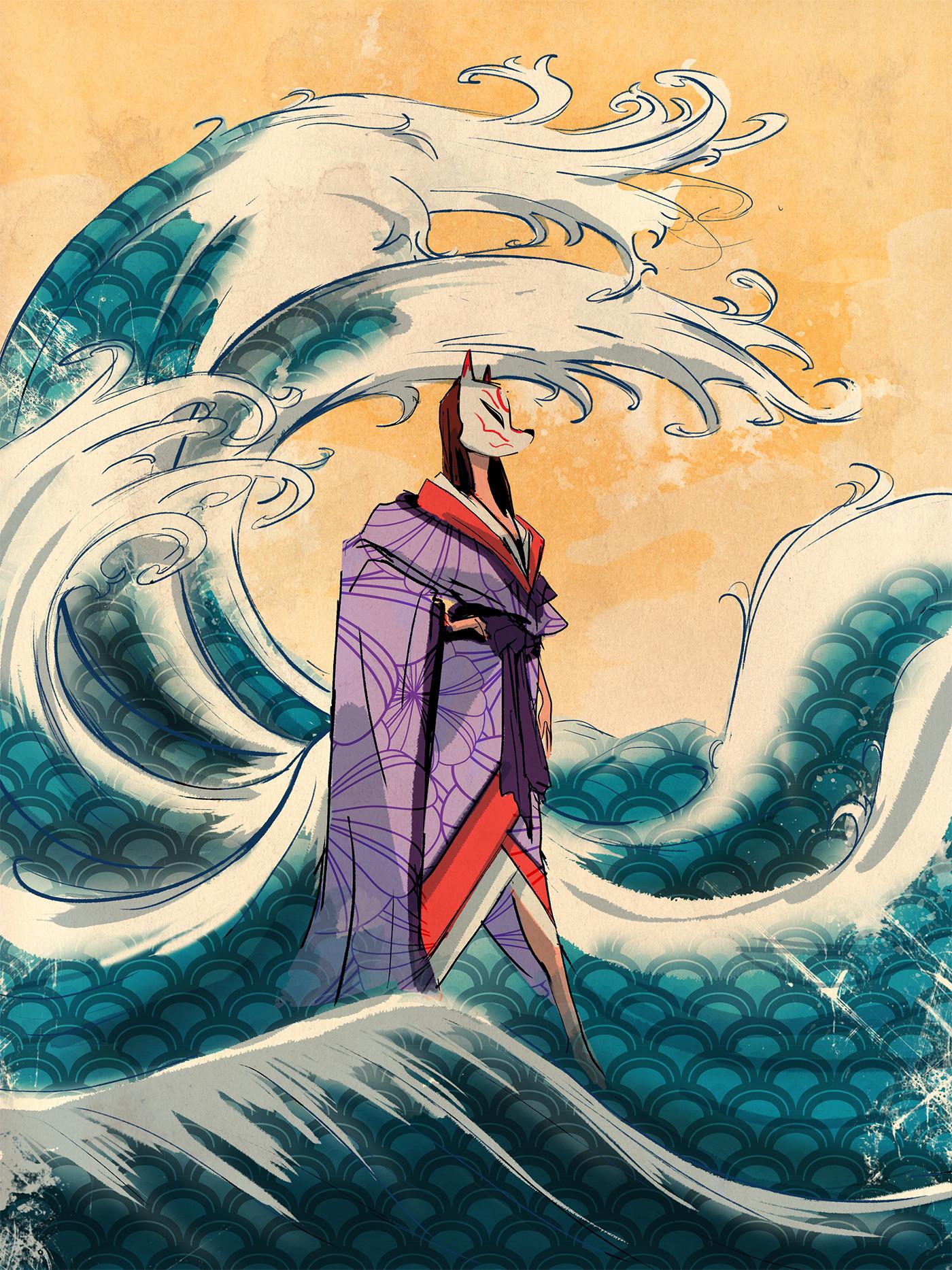 Lamaro smith jinja kitsune forest 0003 jinja kitsune ocean