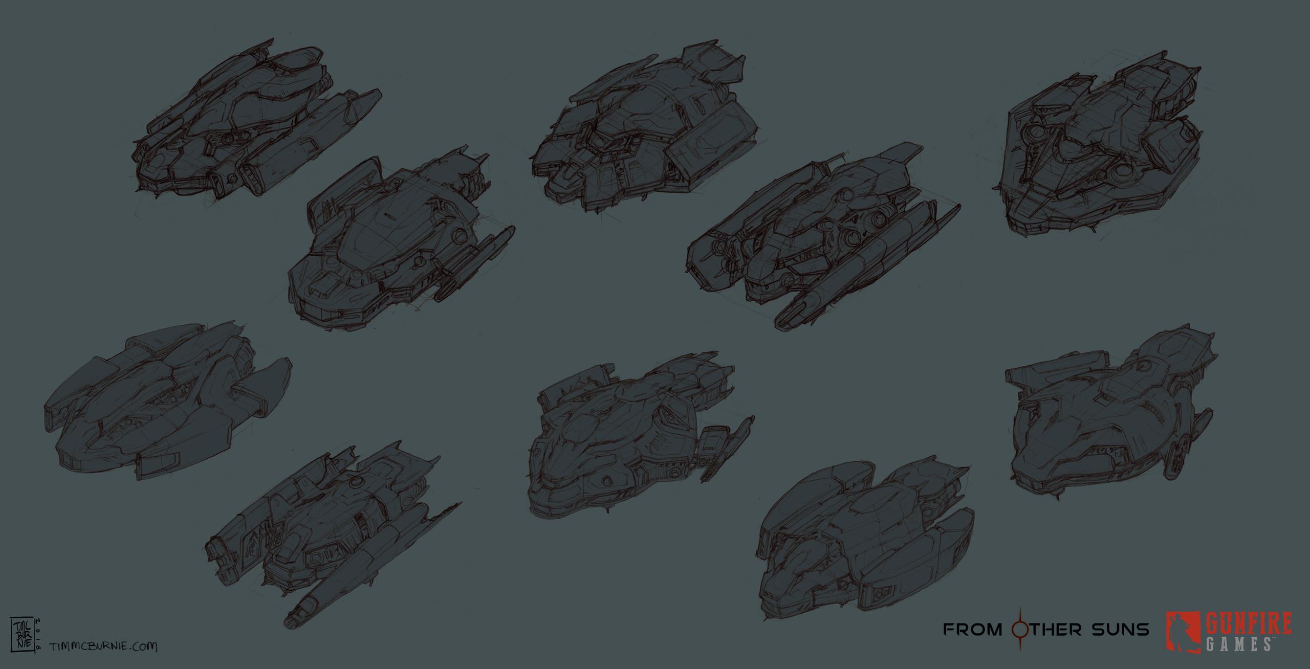 Player Ship sketches