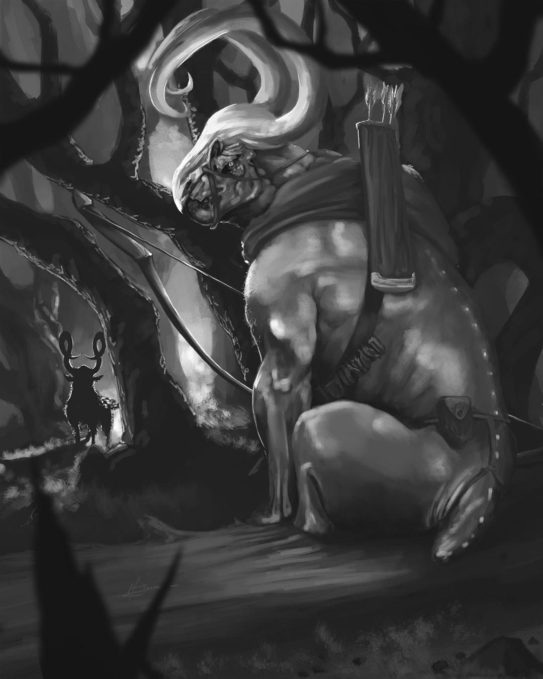 Efrain sosa criatura en el bosque