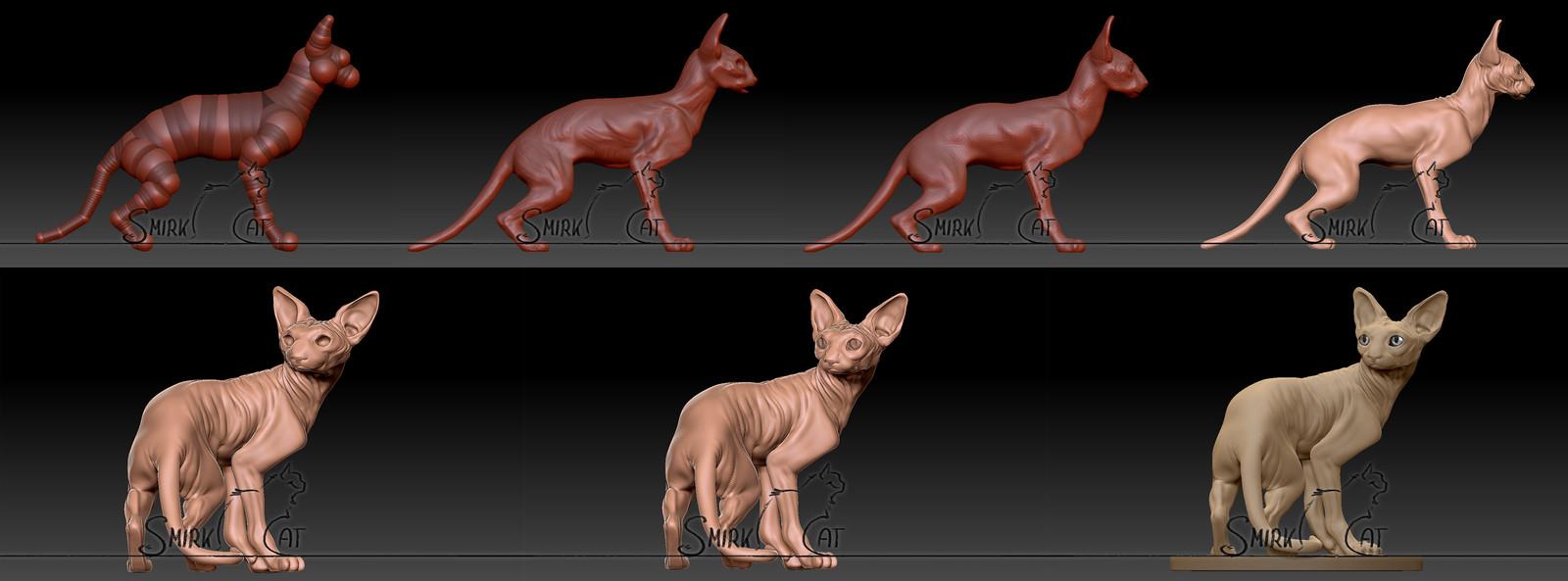 Sphynx Sculpt - Step by Step