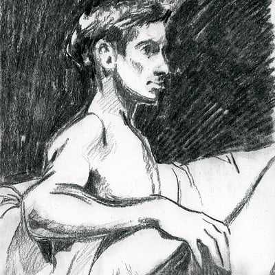 Elisa moriconi 3 06 giugno the boy on the couch charcoal 01