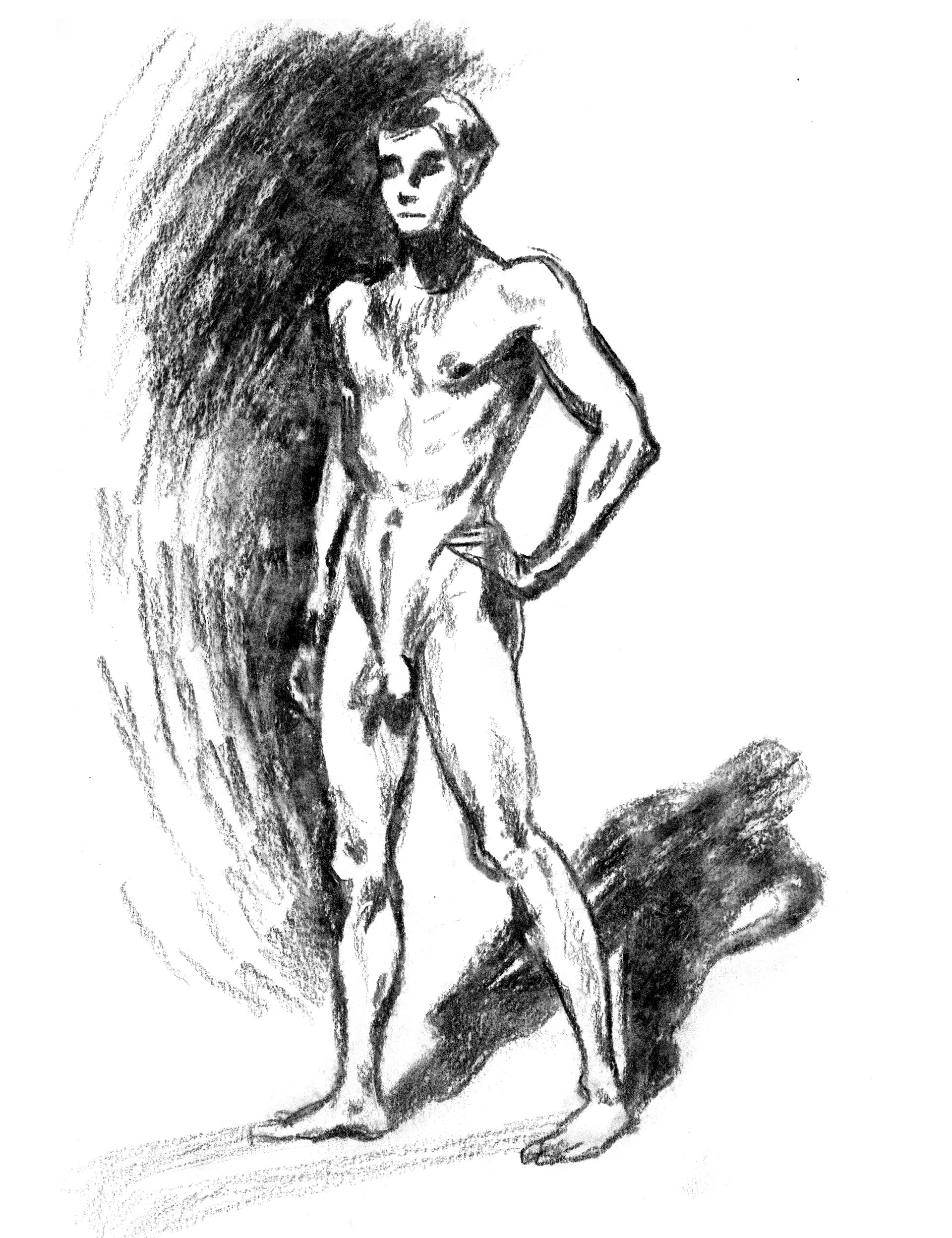 Elisa moriconi 3 06 giugno the boy standing charcoal 01