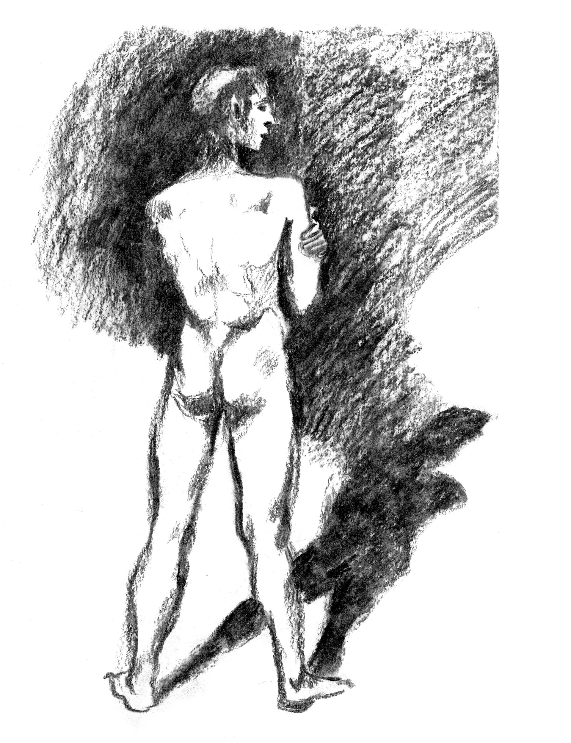 Elisa moriconi 3 06 giugno the boy standing charcoal 02