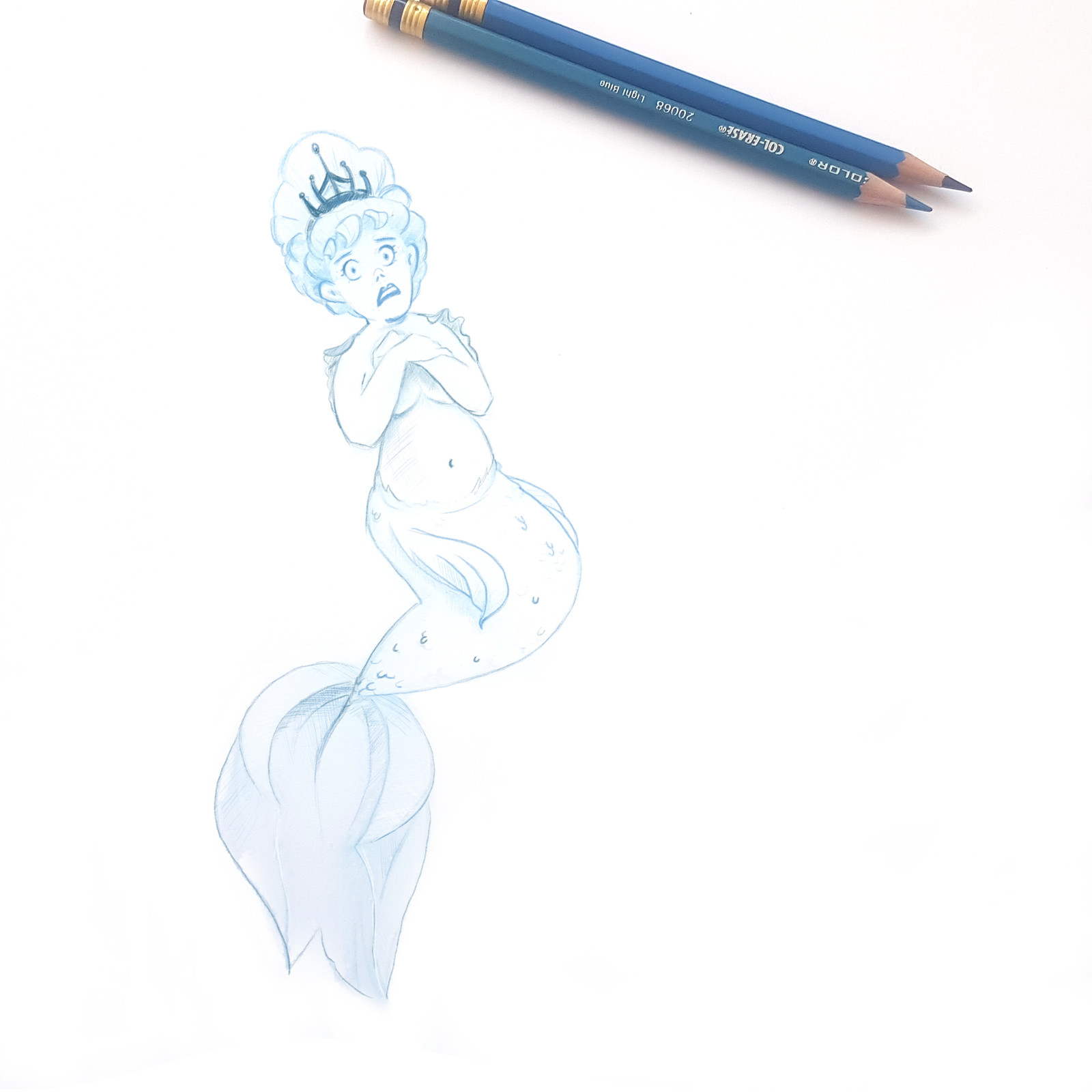Some mermaids are bashful
