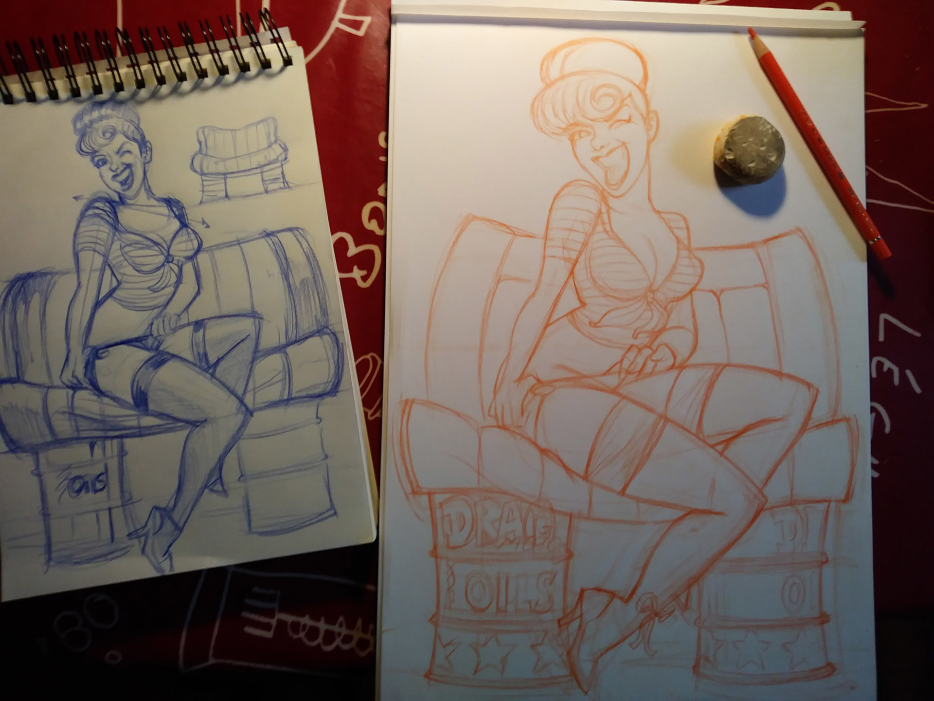 Serge fiedos pinup rockabilly january trinquette wip1 by serge fiedos