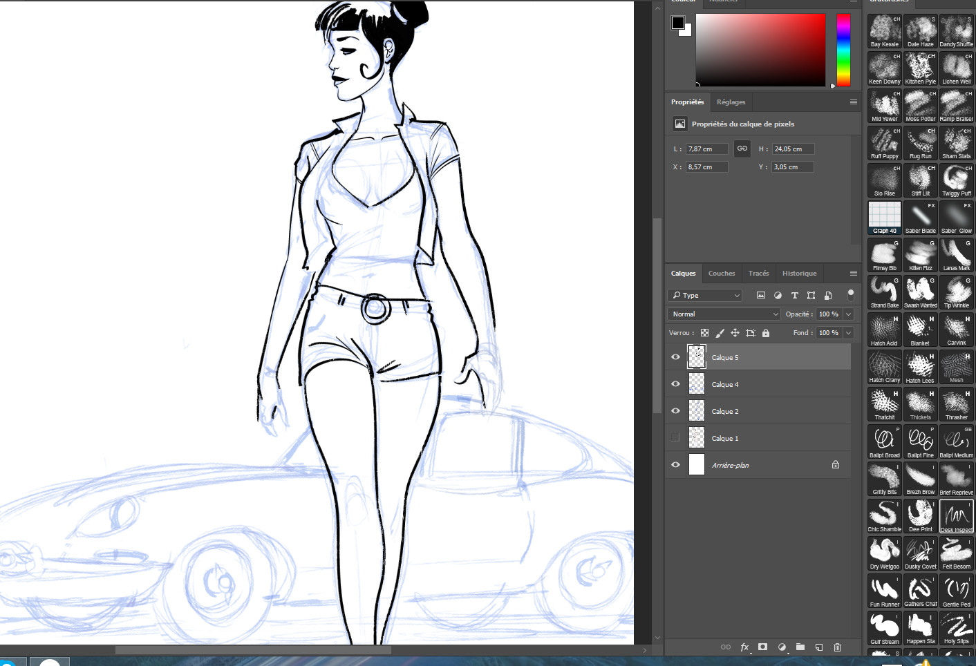 Serge fiedos the girl and the sport car wip2 by serge fiedos