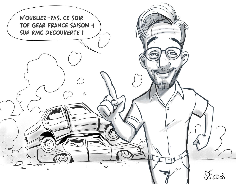 Serge fiedos top gear france season 4 fan art sketch1 by serge fiedos