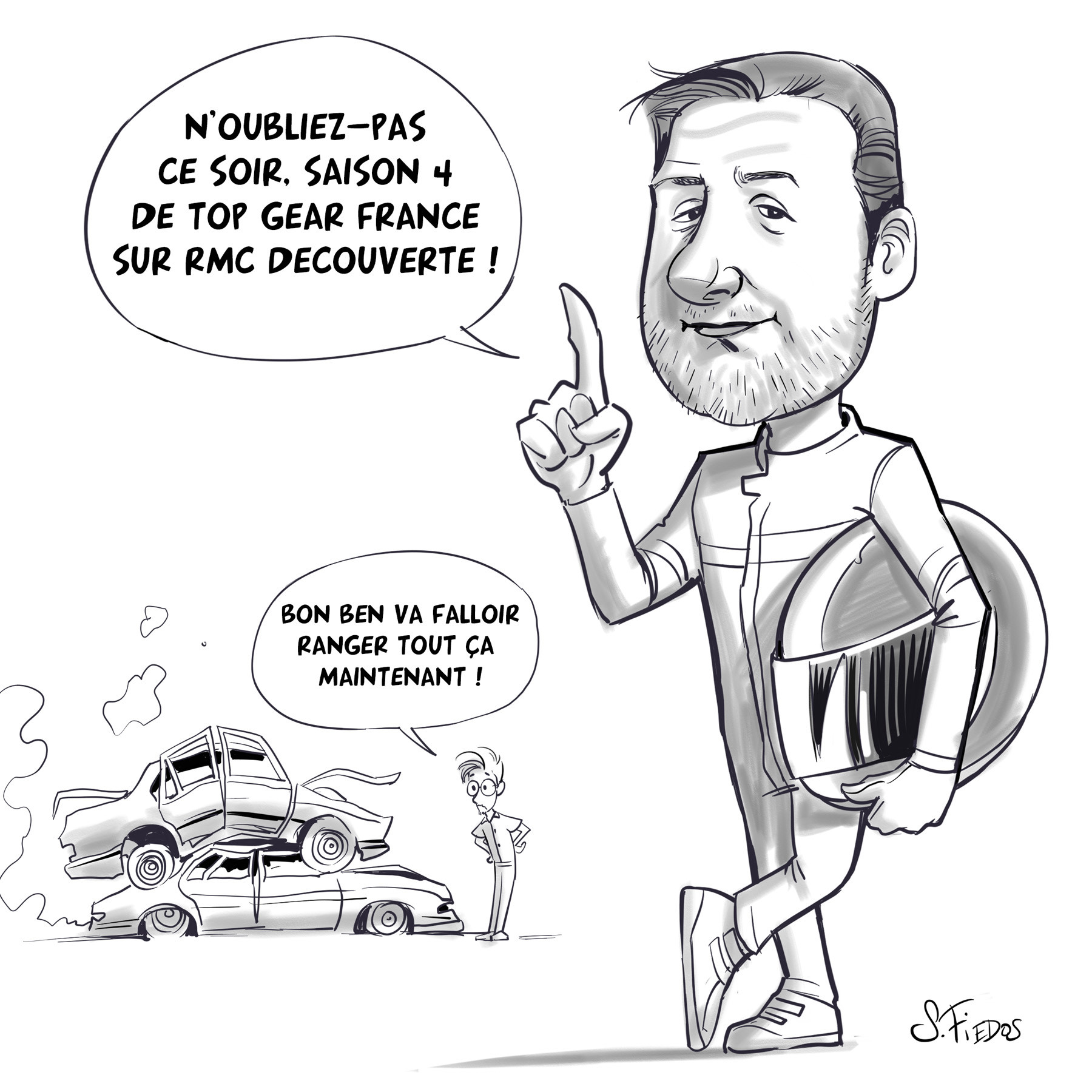 Philippe Lellouche caricature