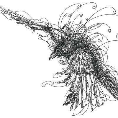 Gabriele crow crow by yade art d69bjm1