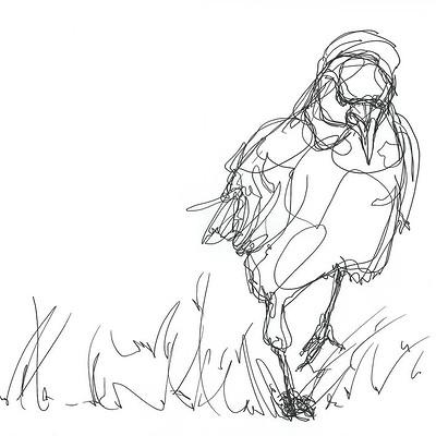 Gabriele crow walking crow by yade art d69bkba