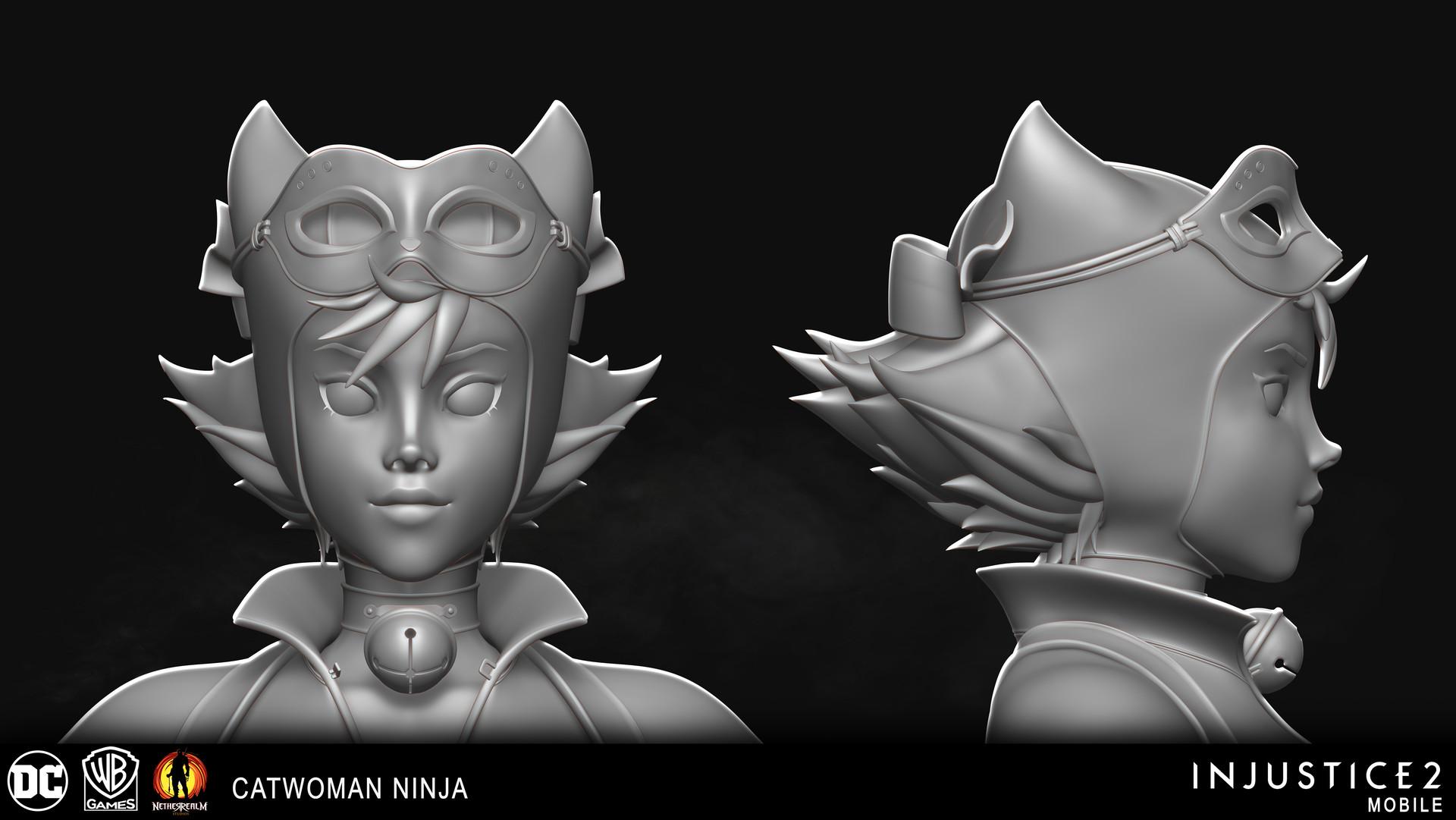 Artstation Injustice 2 Mobile Catwoman Ninja Nick Cashio