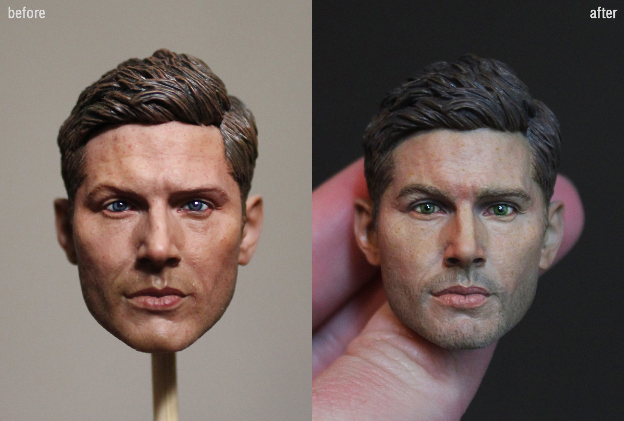 Den Kazakov - 1/6 Jensen Ackles Head Repainting