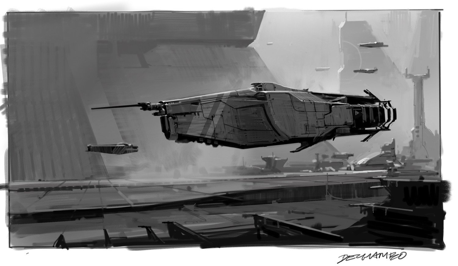 Martin deschambault p77 speeder sketch