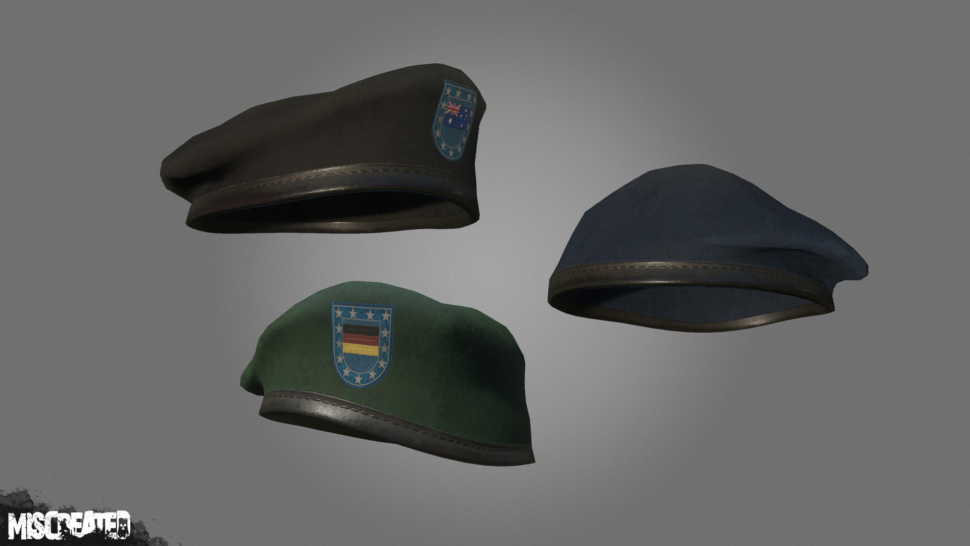 Military Beret, available in multiple colors and emblems