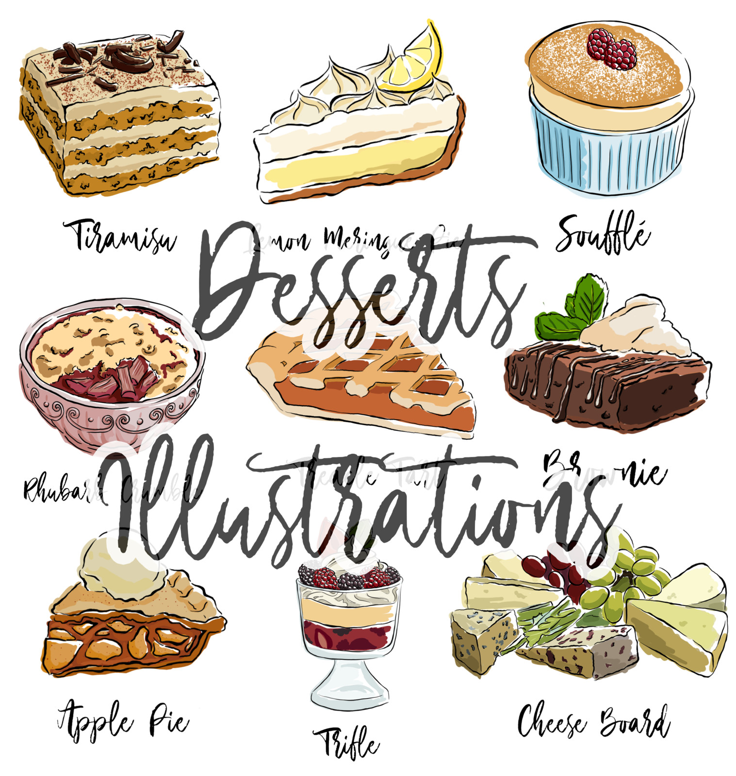 Desserts Illustrations