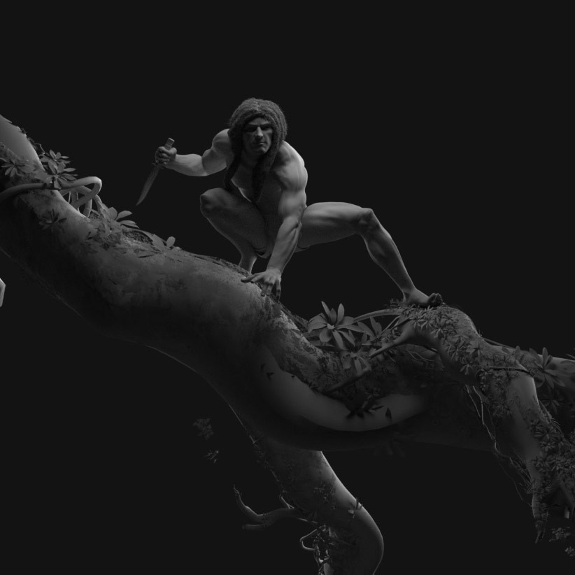 Clay render Tarzan