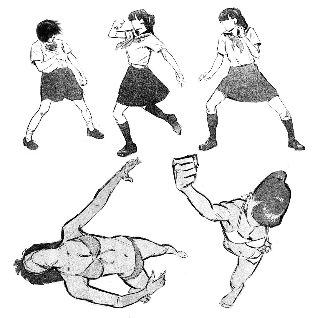 from a japanese book of action poses ref