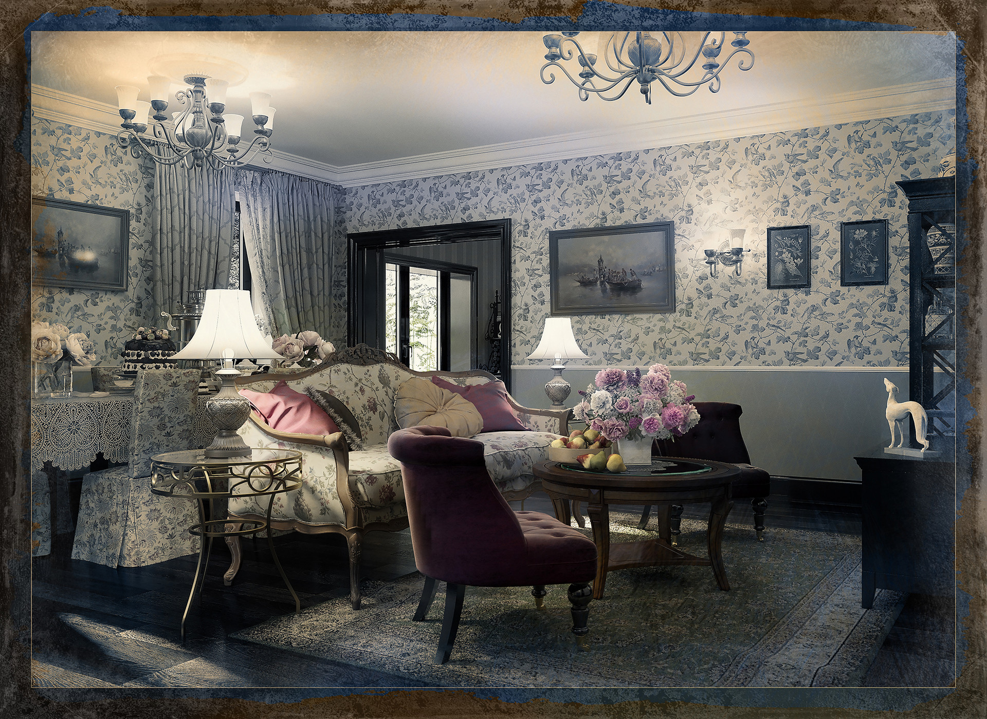 Russian Style Sitting Room And Dining Room:  Https://daryagirina.blogspot.com/2018/06/tatyanas Cottage Interior Design  And.html