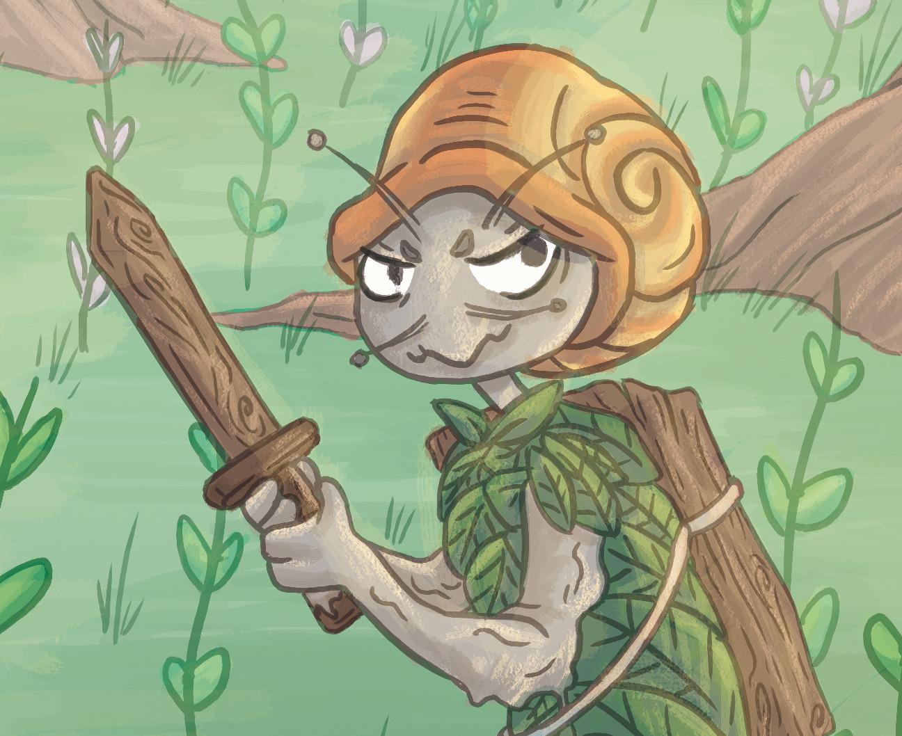 Amy seaman snail warrior close1