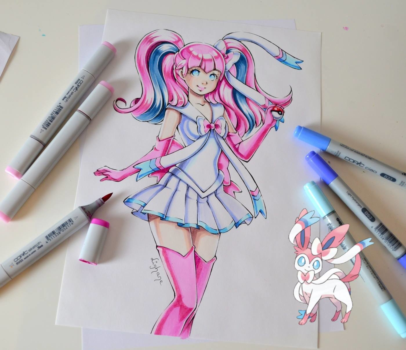Lighane S Artblog Sailor Sylveon Coloring Book Project Copic Marker
