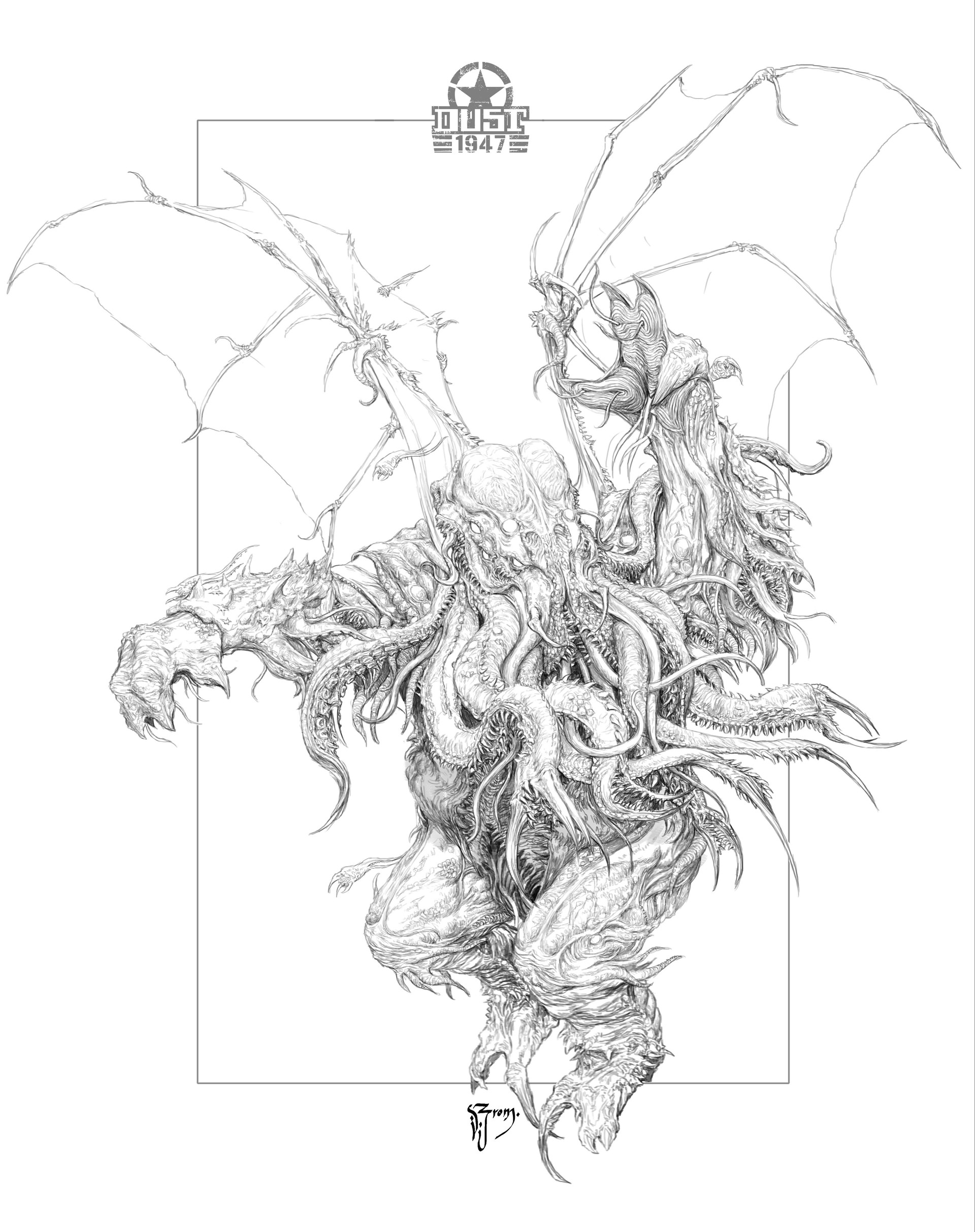 Avatar Of Cthulhu drawing