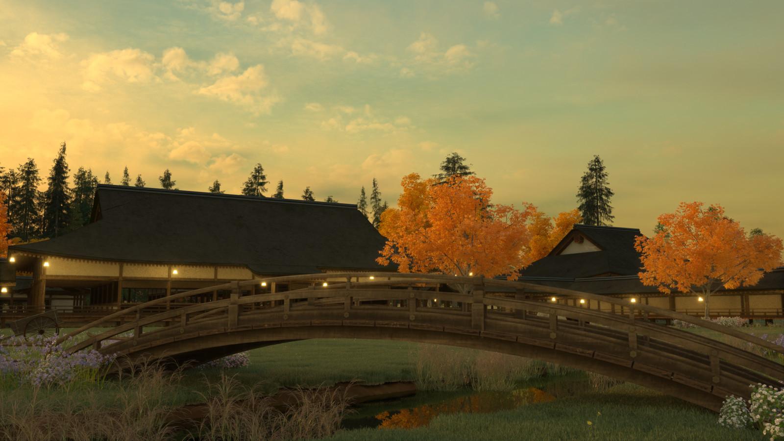 The bridge which crosses the stream